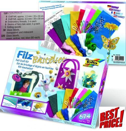 # FILZ CRAFT SET - Комплект за филц техника 674 части ,Germany