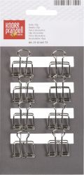 CLIP BINDER 19 mm 8 pieces metal silver-coloured - ЩИПКИ