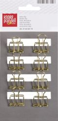 CLIP BINDER 19 mm 8 pieces metal GOLD-coloured - ЩИПКИ