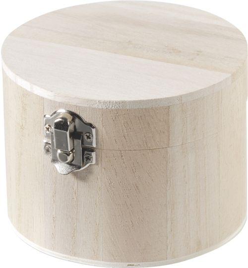 BOX CHEST - Дървена КУТИЯ 8 cm Ø 11 cm