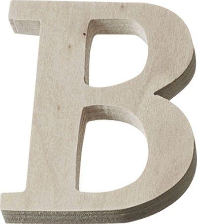 DECO LETTER WOOD - Буква B  #   4 cm
