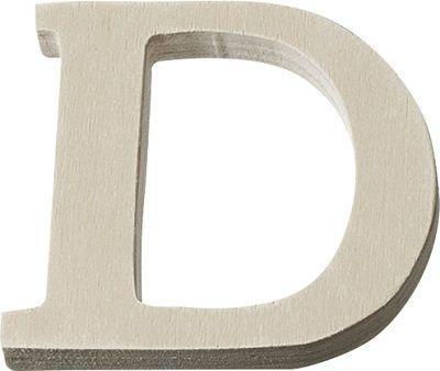 DECO LETTER WOOD - Буква D  #   4 cm