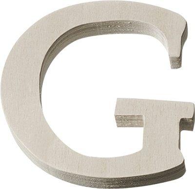 DECO LETTER WOOD - Буква G  #   4 cm