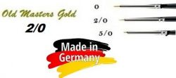 OLD MASTERS Gold . Germany  - Четкa Gold Taklon № 2/0