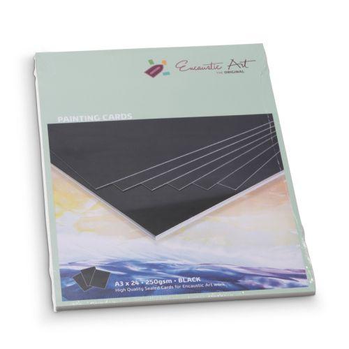 Encaustic Cards A3 / 24 - Комплект картон за Енкаустика 297 x 420mm (A3) / 24 BLACK
