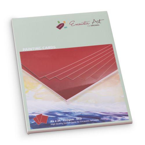 Encaustic Cards A4 / 24- Комплект картон за Енкаустика A4 / RED