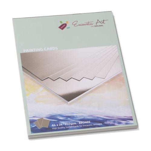 Encaustic Cards A4 / 24- Комплект картон за Енкаустика A4 / BRONZE