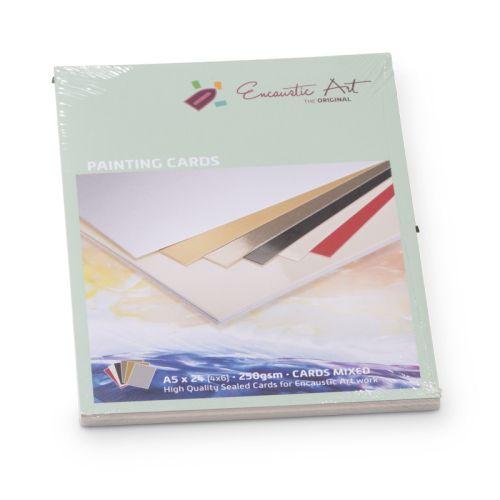 Encaustic Cards - Комплект 24 бр. картички за енкаустика А5 MIXED