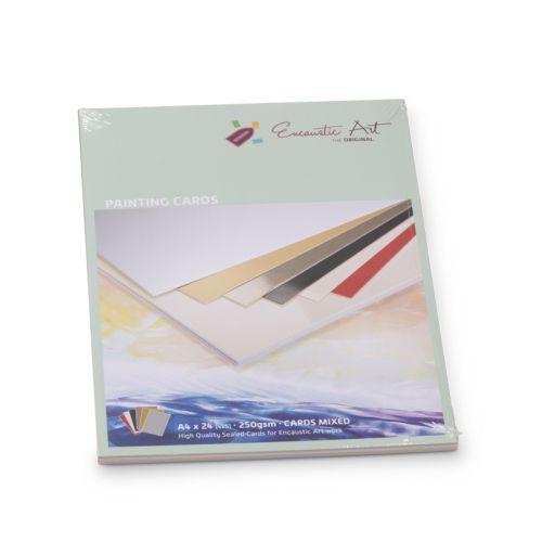 Encaustic Cards A4 / 24- Комплект картон за Енкаустика A4 / MIXED