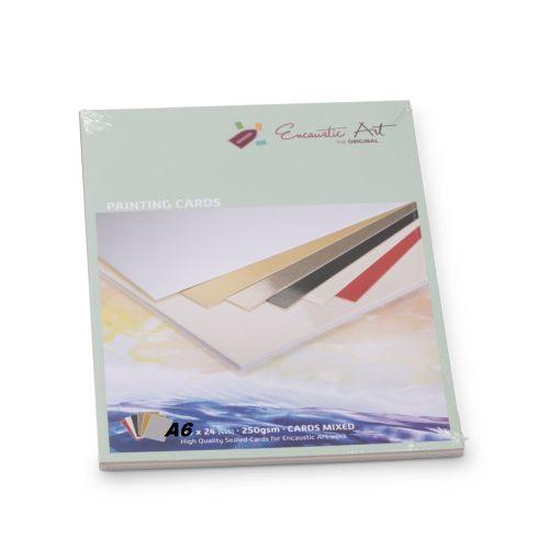Encaustic Cards - Комплект 24 бр. картички за енкаустика А6 MIXED