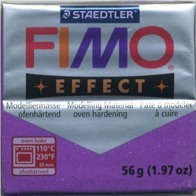 FIMO EFFECT - ПОЛИМЕРНА ГЛИНА Glitter Purple 602