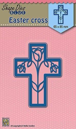 """SHAPE DIES Easter """"Cross"""" 65x85mm - Фигурална щанца за рязане и релеф SDB014"""