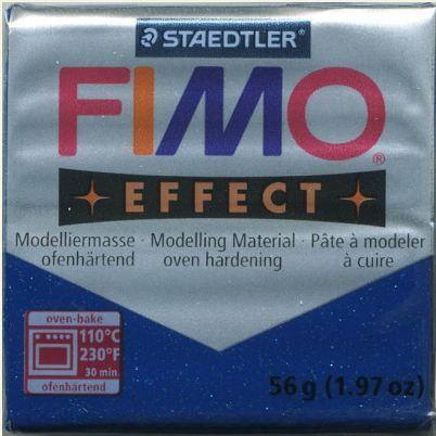 FIMO EFFECT - ПОЛИМЕРНА ГЛИНА Glitter Blue 302