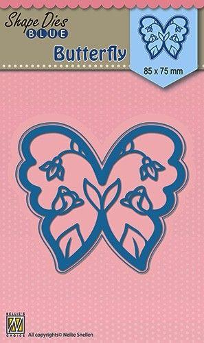 """SHAPE DIES """"butterfly"""" 85x75mm  - Фигурална щанца за рязане и релеф SDB012"""