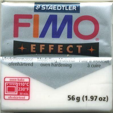 FIMO EFFECT - ПОЛИМЕРНА ГЛИНА Translucent White 014