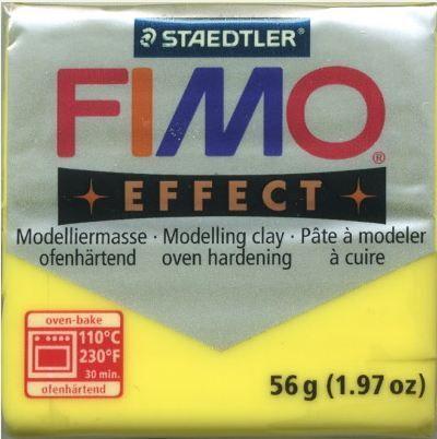 FIMO EFFECT - ПОЛИМЕРНА ГЛИНА Translucent Yellow 104