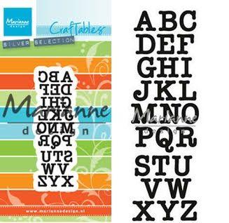 ALPHABET Marianne Design - Шаблони за рязане и ембос CR1417