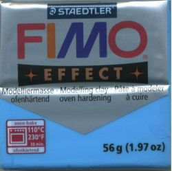 FIMO EFFECT - ПОЛИМЕРНА ГЛИНА Translucent Blue 374