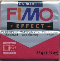 FIMO EFFECT - ПОЛИМЕРНА ГЛИНА Metallic Ruby Red 28