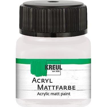 ACRYLIC MATT FARBE  20ML - Фин акрил и за маникюр БЯЛ
