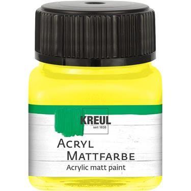 ACRYLIC MATT FARBE  20ML - Фин акрил и за маникюр YELLOW