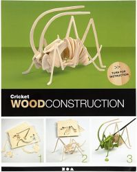 3D Wood Construction Kit CRICKET - Дървен конструктор 22,5x15x18