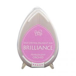 BRILLIANCE DewDrop Pigmet Ink, Japan - Тампон с бързо съхнещо мастило - ORCHID PEARLESCENT