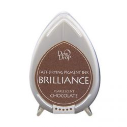BRILLIANCE DewDrop Pigmet Ink, Japan - Тампон с бързо съхнещо мастило - CHOCOLATE PEARLESCENT