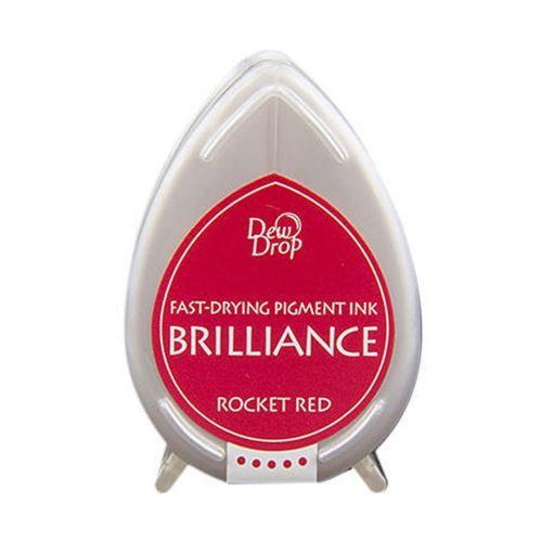 BRILLIANCE DewDrop Pigmet Ink, Japan - Тампон с бързо съхнещо мастило - ROCKET RED