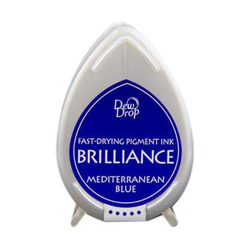 BRILLIANCE DewDrop Pigmet Ink, Japan - Тампон с бързо съхнещо мастило - MEDITERRANEAN BLUE