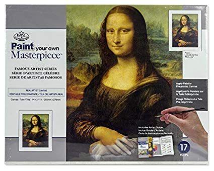 PAINTING MASTER SET ,USA - Мастър сет рисуване на платно MONA LISA