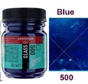 Decorfin Glass, TALENS - Витражна боя от най-високо качество, 50 мл. - Синьо