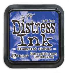 "NEW Distress ink pad by Tim Holtz - Тампон, ""Дистрес"" техника - Blueprint Sketch"