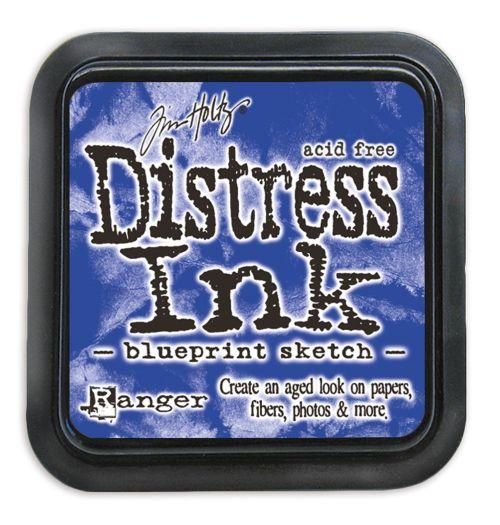 "NEW Distress ink pad by Tim Holtz - Тампон, ""Дистрес"" техника - Blueprint Sketch"
