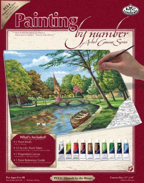 PAINTING by NUMBERS ,USA -Рисуване по  номера на платно 350 X 280mm * PCL4