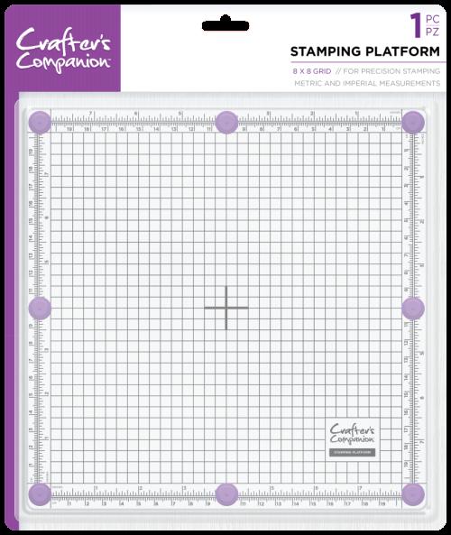"CRAFTERS COMPANION Stamping Platform 8"" x 8"" - Уред за отпечатване 20cm"