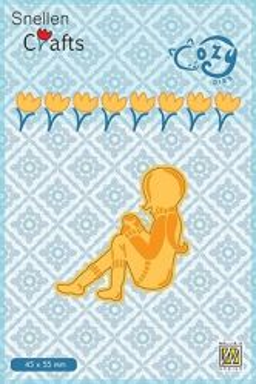 """CRAFT COZY DIE """"GIRL""""   - Фигурална щанца за рязане и релеф"""