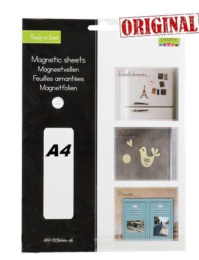 MAGNETIC SHEET ADHESIVE A4 - Магнитен лист самозалепващ А4