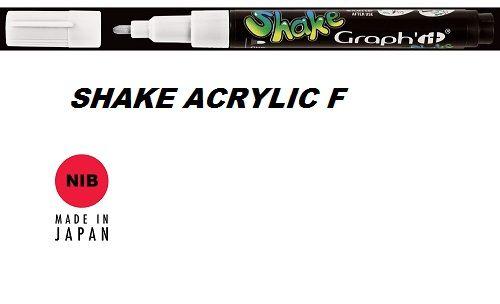 SHAKE ACRYLIC MARKER М -  Акрилен PERMANENT маркер WHITE / БЯЛ