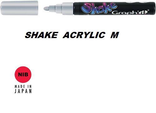 SHAKE ACRYLIC MARKER М -  Акрилен PERMANENT маркер SILVER / СРЕБРО