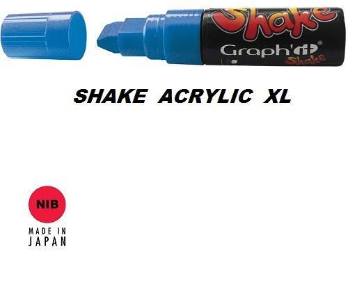SHAKE ACRYLIC MARKER XL -  Акрилен PERMANENT маркер SAPPHIRE / СИН