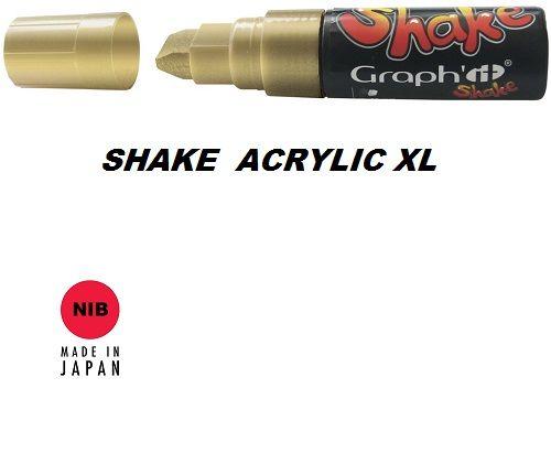 SHAKE ACRYLIC MARKER XL -  Акрилен PERMANENT маркер GOLD / ЗЛАТО