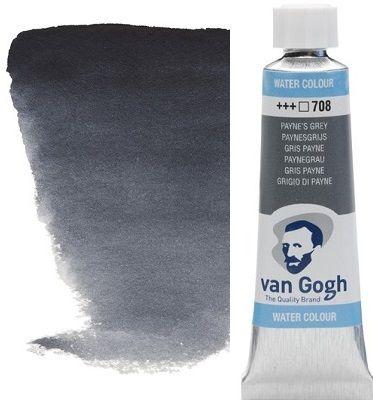 VAN GOGH WATERCOLOUR - Екстра фин акварел 10мл #  Payne`s grey 708