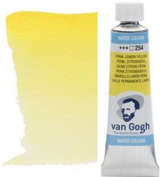 VAN GOGH WATERCOLOUR - Екстра фин акварел 10мл #  Perm. lemon yellow 254