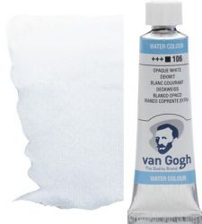 VAN GOGH WATERCOLOUR - Екстра фин акварел 10мл #  Opaque white 106