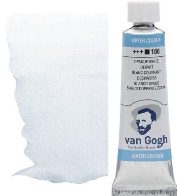 VAN GOGH WATERCOLOUR - Екстра фин акварел 10мл #  Opaque white 106