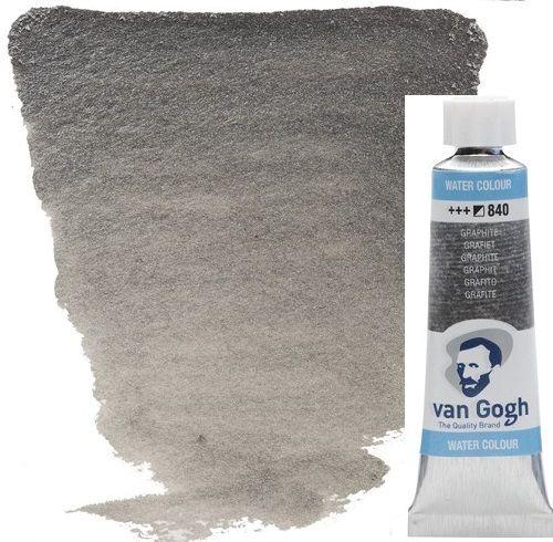 VAN GOGH WATERCOLOUR - Екстра фин акварел 10мл # GRAPHITE METALLIC