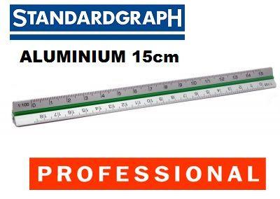 STANDARDGRAPH ALU SCALE RULER 15см - Професионална алуминиева мащабна линия
