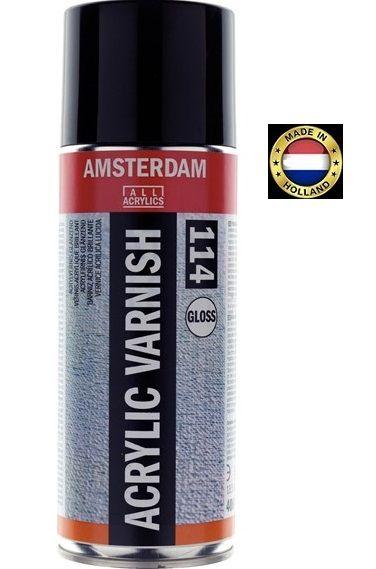 AMSTERDAM ACRYLIC VARNISH SPRAY Glossy - Краен лак за акрил ГЛАНЦ 400 мл.