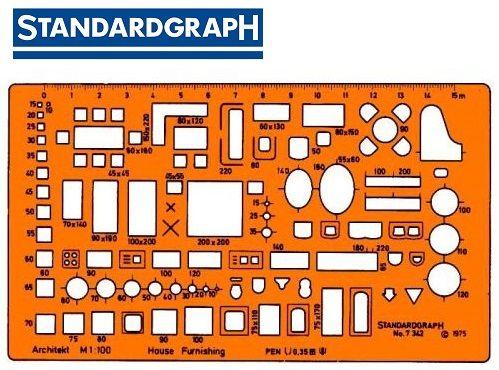 STANDARDGRAPH ARCHITECT HOUSE FURNISHING 1:100 , model 7342